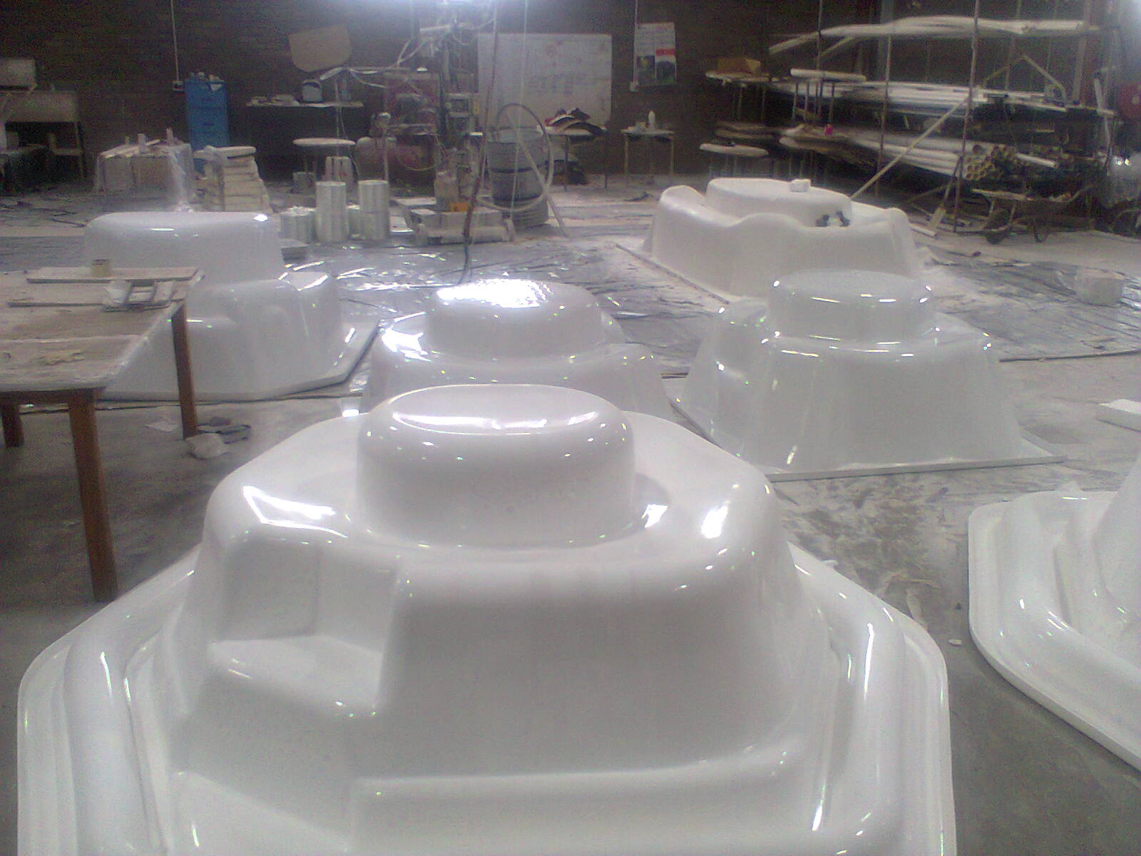 Rim Flow Jacuzzi Ready for Fibre Glass
