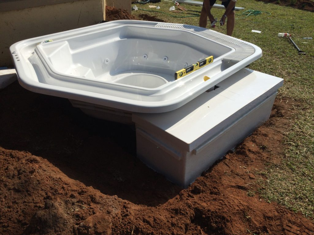 Rim flow Jacuzzi installation prepping